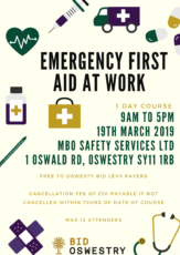 first aid at work poster