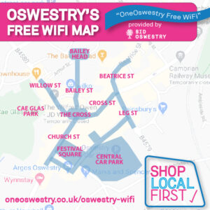 Oswestry Town Wifi Map
